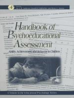 Handbook of Psychoeducational Assessment: A Practical Handbook A Volume in the EDUCATIONAL PSYCHOLOGY Series