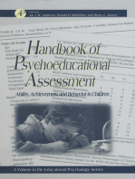 Handbook of Psychoeducational Assessment