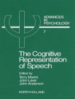 The Cognitive Representation of Speech