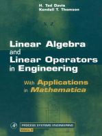 Linear Algebra and Linear Operators in Engineering