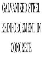 Galvanized Steel Reinforcement in Concrete