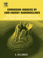 Corrosion Induced by Low-Energy Radionuclides