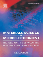 Materials Science in Microelectronics I: The Relationships Between Thin Film Processing and Structure