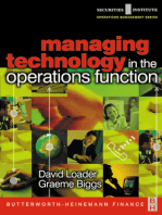 Managing Technology in the Operations Function