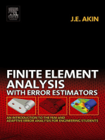 Finite Element Analysis with Error Estimators
