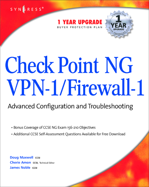 CheckPoint NG VPN 1/Firewall 1 by Syngress - Book - Read Online
