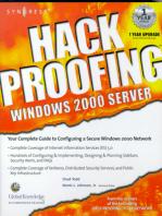 Hack Proofing Windows 2000 Server