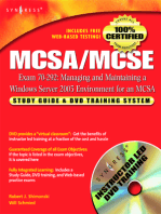MCSA/MCSE Managing and Maintaining a Windows Server 2003 Environment for an MCSA Certified on Windows 2000 (Exam 70-292)