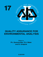 Quality Assurance for Environmental Analysis