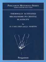 Thermally Activated Mechanisms in Crystal Plasticity