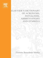 Elsevier's Dictionary of Acronyms, Initialisms, Abbreviations and Symbols