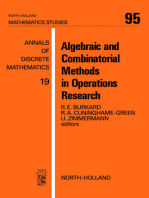 Algebraic and Combinatorial Methods in Operations Research