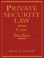 Private Security Law: Case Studies