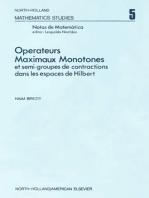 Ope¦rateurs maximaux monotones et semi-groupes de contractions dans les espaces de Hilbert