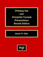 Printing Ink and Overprint Varnish Formulations
