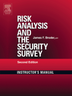 Risk Analysis and the Security Survey Instructor's Manual