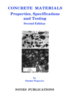 Concrete Materials: Properties, Specifications, and Testing