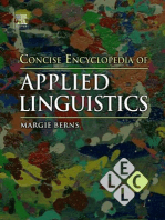 Concise Encyclopedia of Applied Linguistics