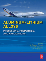 Aluminum-Lithium Alloys: Processing, Properties, and Applications