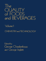 The Quality of Foods and Beverages V1