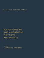 Polycrystalline And Amorphous Thin Films And Devices