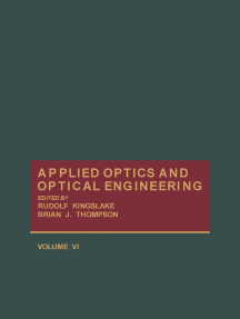 Applied Optics and Optical Engineering V6