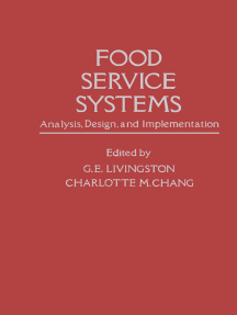 Food Service Systems: Analysis, Design and Implementation