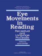 Eye Movements in Reading: Perceptual and Language Processes
