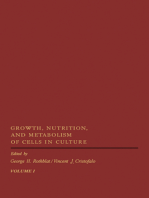 Growth, Nutrition, and Metabolism of Cells In Culture V1