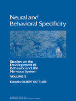 Neural and Behavioral Specificity