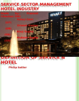 service sector seven p;s in hotel industry