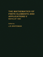 The mathematics of finite elements and Applications V: Mafelap 1984