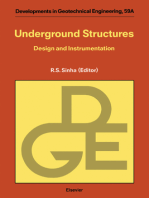 Underground Structures: Design and Instrumentation