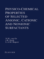 Physico-Chemical Properties of Selected Anionic, Cationic and Nonionic Surfactants