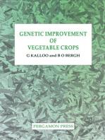 Genetic Improvement of Vegetable Crops