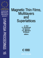 Magnetic Thin Films, Multilayers and Superlattices