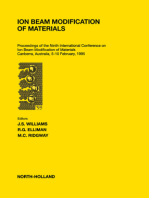 Ion Beam Modification of Materials