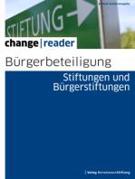 Bürgerbeteiligung - Stiftungen und Bürgerstiftungen