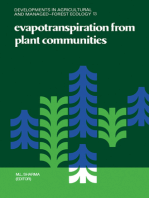 Evapotranspiration from Plant Communities