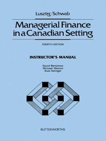 Managerial Finance in a Canadian Setting: Instructor's Manual