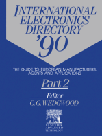 International Electronics Directory '90: The Guide to European Manufacturers, Agents and Applications