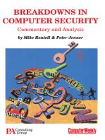 Breakdowns in Computer Security