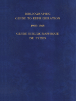 Bibliographic Guide to Refrigeration 1965–1968: Guide Bibliographique du Froid