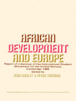 African Development and Europe: Report of a Seminar of the International Student Movement for the United Nations, Cambridge, March 1966