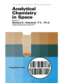 Analytical Chemistry in Space: International Series of Monographs in Analytical Chemistry