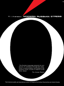 Modern Russian Stress: The Commonwealth and International Library of Science, Technology, Engineering and Liberal Studies: Pergamon Oxford Russian Series