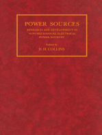 Power Sources: Research and Development in Non-Mechanical Electrical Power Sources