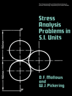 Stress Analysis Problems in S.I. Units: The Commonwealth and International Library: Mechanical Engineering Division