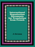 International Organization Documents for Translation from French: The Commonwealth and International Library: Pergamon Oxford French Series