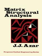 Matrix Structural Analysis: Pergamon Unified Engineering Series
